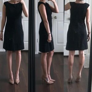 Banana Republic black work sheath dress